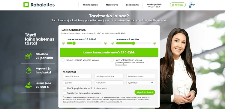 Hae lainaa Rahalaitos.fi